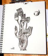 fork seaweed
