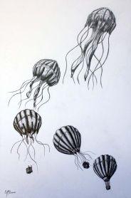 hot air balloon to jellyfish