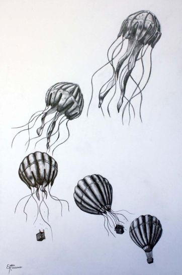 hot air balloon to jellyfish