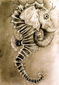 seahorse elephant