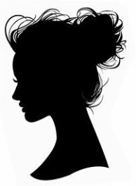 silhouette hair up