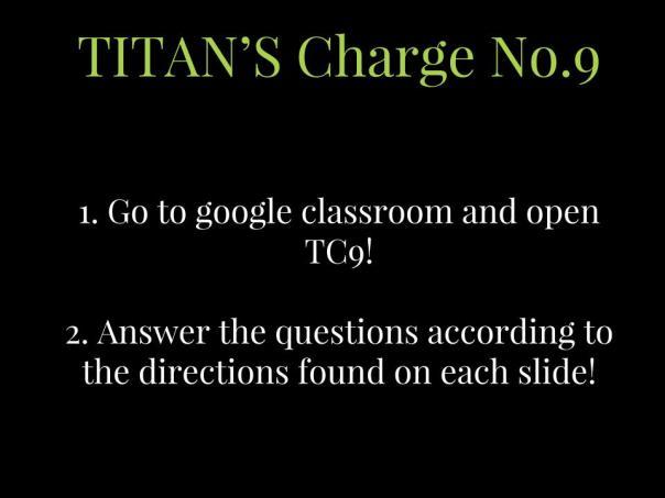 TITAN'S Charge No.9