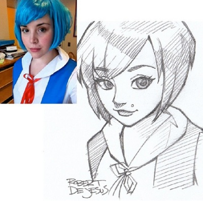 blue hair chic