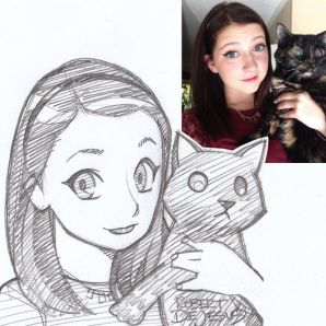 girl with kitty