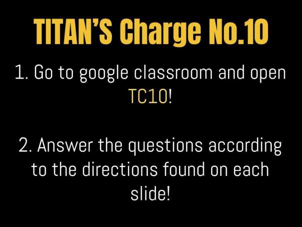 TITAN'S Charge No.10 16-17