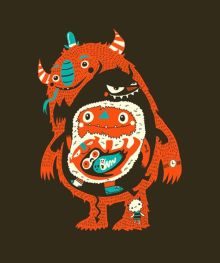 Craig Watkins You Are What You Eat Monster Illustration