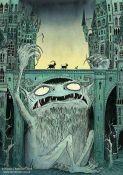 Nicola Robinson Billy Goats Gruff Illustration Troll Under the Bridge