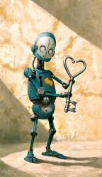 Per Haagensen Robot with Heart Key