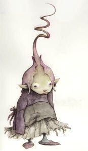purple goblin girl