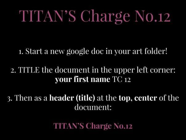 TITAN's Charge No.12