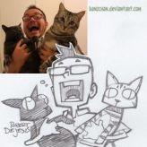 2 kitties and a scream robert de jesus