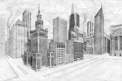 2 point exterior cityscape