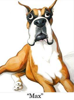 max cartoon portrait
