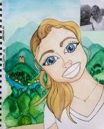 SKBK cartoon Class of 2020 Hannah