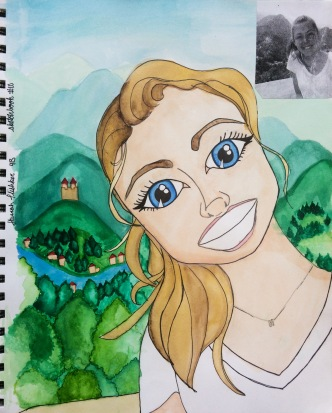 SKBK cartoon Class of 2020 Hannah