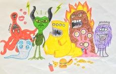 SKBK Monsters Robots Sample 3