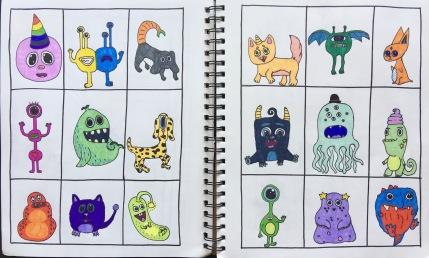 SKBK Monsters Robots Sample 4