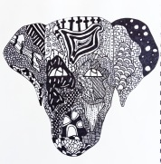 SKBK Zentangle Animal Student Sample 2