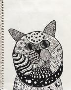 SKBK Zentangle Animal Student Sample 3