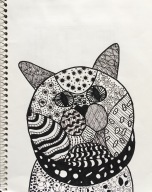 SKBK Zentangle Animal Student Sample 3