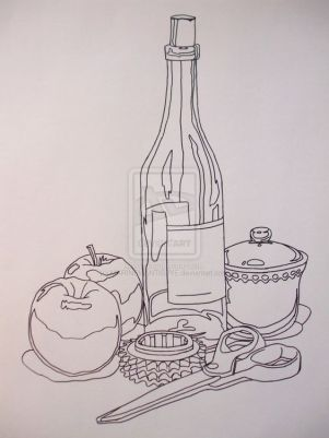 contour line drawing example 2