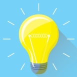 lightbulb teal and yellow